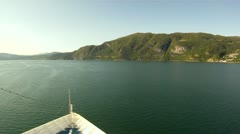 Sailing through the fjords of Norway Stock Footage