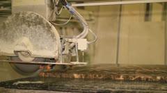 Cutting stone Stock Footage