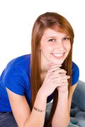 Stock Photo of close up on a cute girl smiling
