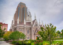 Mormons' temple in salt lake city, ut Stock Photos