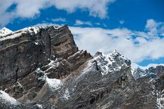 Landscape viewed from gokyo ri summit in himalayas Stock Photos