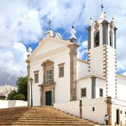 portuguese church igreja sao martinho de estoi landmark, algarve, portugal - stock photo