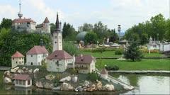 Minimundus miniature park Stock Footage