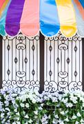 colorful balcony board - stock photo