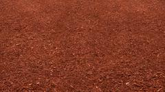 red mulch bed - stock photo