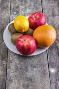 fruits on table - stock photo