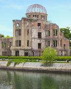 Atomipommi kupoli Hiroshiman rauhanpuisto. UNESCO. Japani Kuvituskuvat