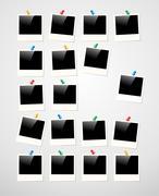Polaroid photo frame background Piirros