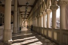 Venetian balcony columns and arches in las vegas Stock Photos