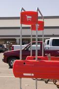 Shopping cart return signs Stock Photos