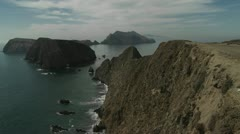 An establishing shot of Channel Islands National Park, California. Stock Footage