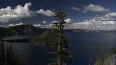 The beautiful shores of Crater Lake, Oregon. Stock Footage