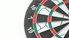 Stock Video Footage of Darts game with dartboard
