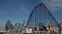 Roller Coaster Blackpool Pleasure Beach - stock footage