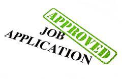 Job Application Approved - stock illustration