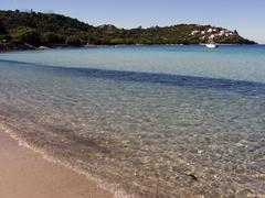 Landscape of emerald coast, sardinia, italy Stock Photos