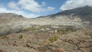 Stock Video Footage of Windy landscape of Mustang.