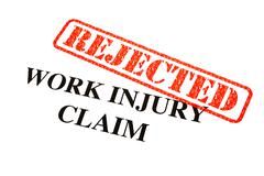 Work Injury Claim Rejected - stock illustration