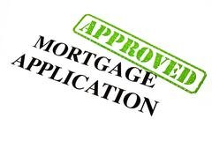Mortgage Application Approved Stock Illustration