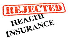 Health Insurance Rejected - stock illustration