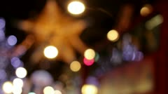 London Oxford Street Christmas Tree Lights 2012 Stock Footage