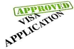 Visa Application Approved Stock Illustration