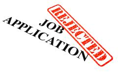 Job Application Rejected Stock Illustration
