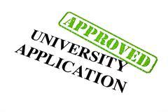 University Application Approved - stock illustration