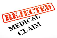 Medical Claim Rejected Stock Illustration