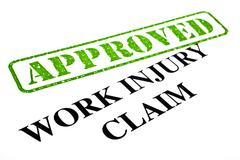 Stock Illustration of Work Injury Claim Approved