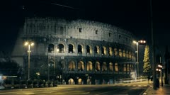 Time-lapse of Colosseum,  monument from Roman Empire -  Apple ProRes 422 (hq) Stock Footage