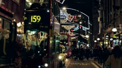 London Oxford Street Christmas Lights 2012 Stock Footage