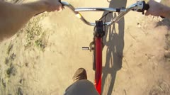 Stock Footage: Slow Motion POV BMX Dirt Jumps - 2 - stock footage