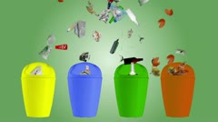 Garbage Segregation and Recycling - Animation. - stock footage