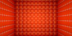 Isolation and segregation: red stitched leather mattresses Stock Illustration