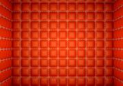 Segregation or isolation: red stitched leather mattresses Stock Illustration