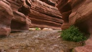 Stock Video Footage of A view along a slot canyon in the Grand Canyon in Arizona.