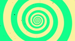 Vintage Hypno Circle HD 1080p Stock Footage