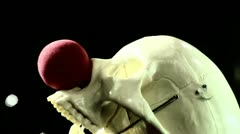 evil clown skull 2 - stock footage