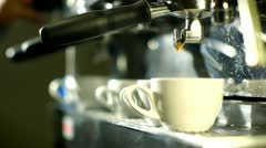 Blast of steam on coffee machine Stock Footage