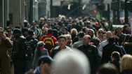 Crowd of people walking on a street Stock Footage