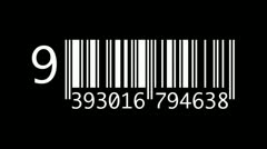 Barcode countdown silhouette - stock footage