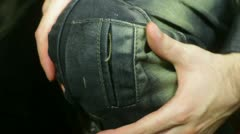 Knee hurt injury Stock Footage