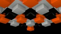 Box illumination array with alpha Stock Footage