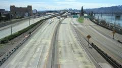 Freeway Traffic in Portland Oregon Timelapse 1080p Stock Footage