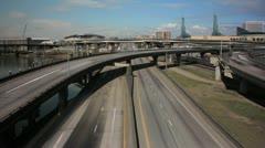 Portland Oregon Freeway Timelapse 1080p Stock Footage