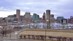 Baltimore Sunrise Timelapse Stock Footage
