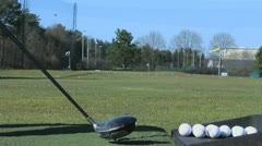 Golf ball and club Stock Footage