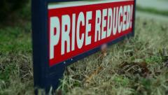 Price reduced real estate Stock Footage