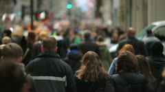Crowd of people walking on a street 25p - stock footage
